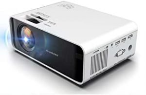 Wownect Home Theater LED Projector W80 Sync Mini Home Entertainment Cinema Projector with 1200 Lumens HD 3D Projector Miracast Wireless Mobile Screening (HDMI USB VGA Headphone AV Audio SD Port)