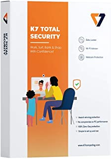 K7 Total Security Antivirus Software 2020 for 1 Device with Internet Security