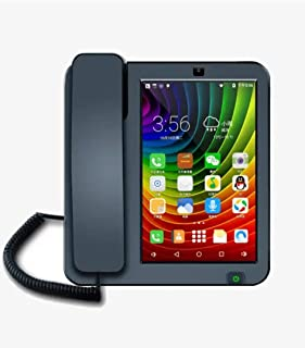 Smart Landline Telephone Multimedia Telephone with Android 4.2 7.9-inch Display VoIP Telephone PSTN LAN/WiFi Dual-mode Home Phone