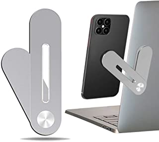 Celerity Laptop Extension Phone Holder Laptop Side Mount Clip Magnetic Notebook Mobile Tablet Secure Smartphone Cell Phone Extension Bracket Enjoy Dual Screen with Rotatable Angle Adjustment