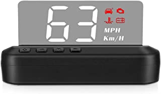 Ikayaa High Definition LED Stereo Imaging Display HUD Head-up Display Speedometer Car Diagnostic Tool OBDⅡ Fault Code Elimination Safe Driving Computer Overspeed Fault Alarm