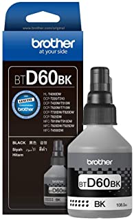 Brother Genuine BTD60BK Ultra High Yield Black Ink Bottle for Ink Tank Printers
