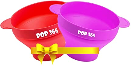 Microwave Popcorn Maker | Microwavable Pop Corn Popper | 100% Food Safe Silicone Collapsible Bowl Reusable | Flavors can be be added | Festive Season's offer