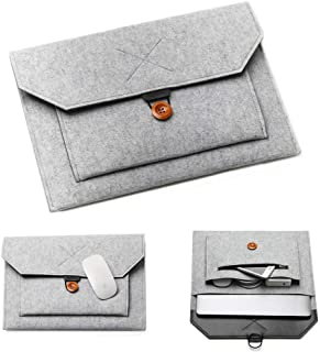 """13-13.3"""" Laptop Sleeve Handle Felt Ultralight Notebook Tablet IPAD Case Front-pocket Pouch Bag Briefcases for Apple Macbook/Asus/Acer/Dell/HP/Lenovo-Grey"""