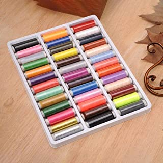 Festnight Polyester Sewing Threads 39 Colors Embroidery Sewing Threads Cone for Sewing Machine Patchwork Threads Craft