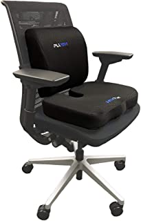 Plush Advanced Orthopedic Coccyx Support Seat Cushion & Lumbar Support Pillow for Office Chair. Premium Adaptive Memory Foam Relieves Tailbone Pain. Sit comfortably longer. Great for any Chair.