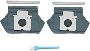 T-Care 2pcs Universal Hepa Cloth Microfiber dust Bags Replacement For Panasonic Vacuums Cleaner