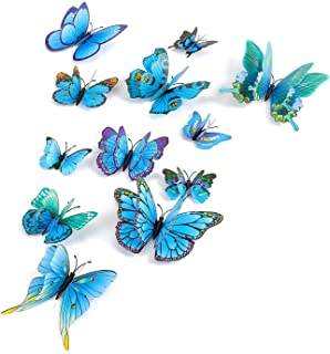 12 Butterfly Removable Wall Stickers Fridge Magnet Stickers 3D Wall Stickers.Wall Stickers.Wall Art for Kids Room Decoration