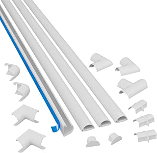 D-Line D-Line Mini Cable Raceway Kit   Self-Adhesive Wire Covers   Electrical Raceway