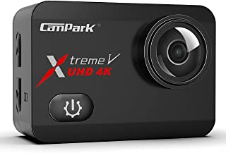 Campark X30 4K Action Camera 20MP EIS Anti Shake WiFi Touch Screen 1080p 120fps Sports Underwater 40m Waterproof Video Cam with Two 1350mAh Batteries Mounting Accessories Compatible with Go Pro