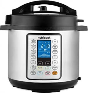 Nutricook Smart Pot Prime by Nutribullet 1200 Watts - 10 in 1 Instant Programmable Electric Pressure Cooker