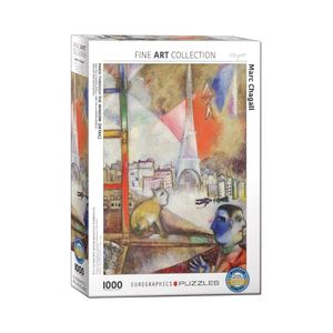 Eurographics Paris Through The Window By Marc Chagall 1000 Pcs Jigsaw Puzzle