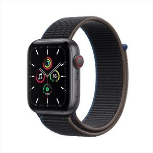 Apple Watch SE GPS+Cellular 40mm Space Grey Aluminum Case with Charcoal Sport Loop