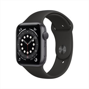 Apple Watch Series 6 GPS 44mm Space Grey Aluminum Case with Black Sport Band