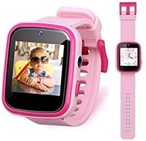 Smart Kids Watch Educational Electronic Toys Touch Screen Smart Watch Toys for 5-10 Year Old Boys Girls Toddler Watch HD Dual Camera Watch Birthday for Kids USB Charging (Pink)
