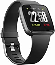 Smart Wristband Watch Health Sports 2in1 H4 Smart Watches for Men Women with All day Heart Rate Blood Pressure Monitor Activity Tracker/Sleep Monitor/Color Screen IP67 Waterproof Smartwatches