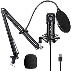 【Upgraded】High stand USB Condenser Microphone for Computer
