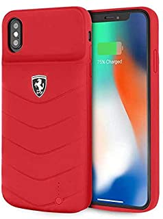Ferrari FEOQUPCFCI65RE Off Track Full Cover Power Case 4000mAh for iPhone Xs Max - Red