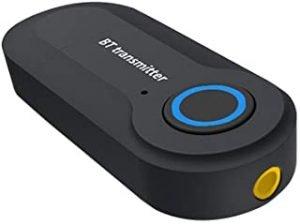 Bluetooth Transmitter Wireless Portable USB Powered 3.5mm Audio AUX Bluetooth Audio Transmitter for TV Stereo Speaker Headset iPod MP3 MP4(Black)