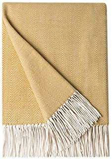Bourina Decorative Herringbone Faux Cashmere Fringe Throw Blanket Lightweight Soft Cozy for Bed or Sofa Farmhouse Outdoor Throw Blankets