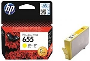 HP 655 Yellow Original Ink Advantage Cartridge - CZ112AE