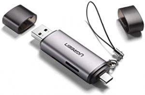 UGREEN SD Card Reader USB 3.0/USB C OTG Dual Slot Memory Card Adapter for UHS-I
