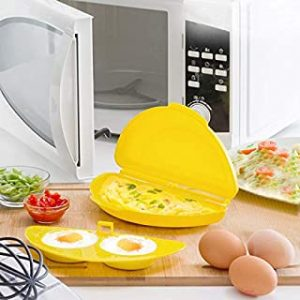 Microwave Egg Poacher and Omelette Maker Streamer & Cooker | BPA Free | Easy Clean & use | Includes Instructions Recipes Ingredients 20+ Languages | Innovagoods