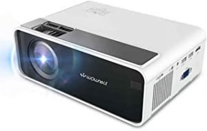 Wownect W13 Sync Mini Projector 4K HD LED Home Theater Projector 1500 Lumens [ 1920*1080 ] [ Wireless Mobile Screening Miracast / Airplay ] Home Entertainment Cinema Projector