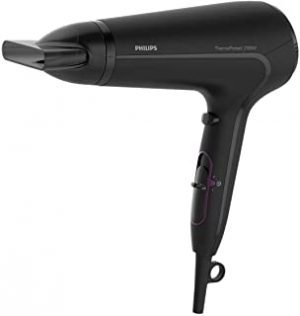 ThermoProtect Hairdryer. 2100W. Cool Shot. Slim styling nozzle. 6 speed and temrpeture settings. 3 pin