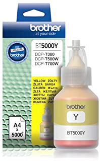 Brother Genuine BT5000Y Ultra High Yield Yellow Ink Bottle for Ink Tank Printers