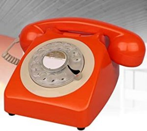 Retro Style Phone/Vintage Telephone/Classic Desk Phone With Rotary Dialler Rotary Dial Disc Retro Telephone In The Sinuous Style Of The Retro Landline Phone - Authentic Bell Ring