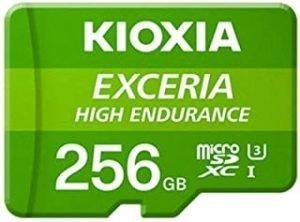 KIOXIA 256GB microSD HIGH ENDURANCE Memory Card UHS-I Class10