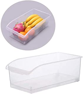 AIWANTO Kitchen Transparent Storage Box Without Lid Food Storage Container with Pulley Drawer Type Refrigerator Organizer Box Household Storage Organizer for Fruit and Vegetable (6L Capacity)