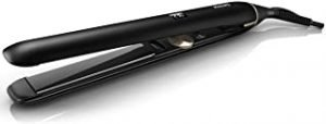 Philips Prestige Pro Hair Straightener. Titanium floating plates. Ionic care for shiny hair. 10 sec. heat up time. 3 pin. Black. HPS930/03