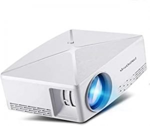 Wownect C80 Android Home Theater Smart Projector 4K LED 2200Lumens WiFi Portable HD Projector 1280x720 [ 1GB RAM 8GB ROM ] [Image Size: 30 - 120 inch] - White
