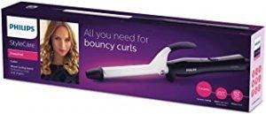 Philips Stylecare Essential Hair Curler. 16mm curling barrel .Protective ceramic coating. Cool tip. 3 pin. Black/Pink. BHB862/03