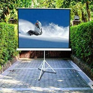 Cicon Projector Screen Portable 100 Inch Diagonal Projection HD 4:3 Projection Pull Up Foldable Stand Tripod