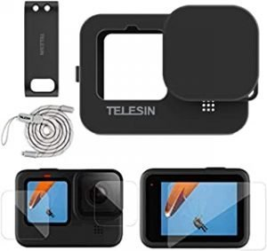 TELESIN Silicon Case for GoPro Hero 9 Black Action Camera -NOT Including Battery Door or Screen Protector