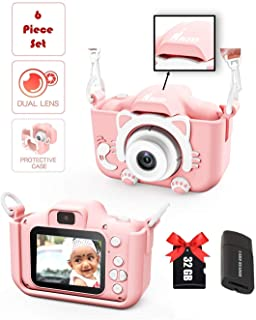 Kids Digital Dual Camera with Selfie Mode iKID | For Smart Children of Age 3 4 5 6 7 8 9 Year | Best Birthday Gift for Boys & Girls | Rechargeable Portable Toy with 32 GB SD Card | Learn Photography