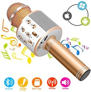 Wireless Bluetooth Karaoke Microphone Machine