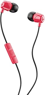 Skullcandy S2DUY-L676 Jib In-Ear Noise-Isolating Earbuds with Microphone and Remote for Hands-Free Calls - Red/Black