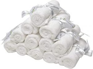 BYFT 2030604010305 Magnolia - Wash Cloth - 33x33 CM - 600 GSM - White - Set of 12