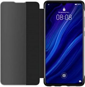 Huawei P30 Smart View Flip Cover - Black (Pack of 1)