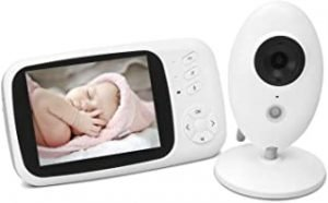 Baby Monitor Camera And Audio 3.5 Inch Screen 2.4Ghz Wireless Video Baby Camera Monitor For Night Vision Temperature Sensor 2-Way Talk Long Range Lullabies Sound Activation