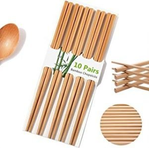 10 Pairs Natural Bamboo Chopsticks
