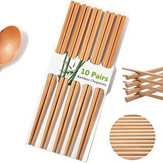 10 Pairs Natural Bamboo Chopsticks