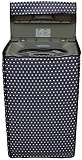 Kuber Industries 8905244013637 Top Load Fully Automatic Washing Machine Cover in Polka Dots Design Black Color (Suitable for 6 kg
