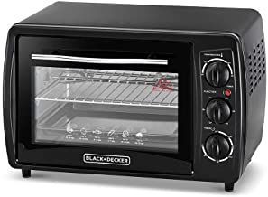 Black+Decker 19L Double Glass Multifunction Toaster Oven with Rotisserie for Toasting/ Baking/ Broiling