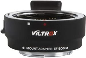 VILTROX EF-EOS M Electronic AF Auto Focus Lens Mount Adapter for Canon EF/EF-S Lens to Canon EOS-M (EF-M Mount) Mirrorless Camera EOS M1/ EOS M2/ EOS M3/ EOS M5/ EOS M6 /EOS M10/EOS M50/ EOS M100