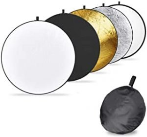 Light Reflector Set 5 colors Portable Collapsible Multi-Disc Reflector Photography with Bag for Photography Photo Lighting